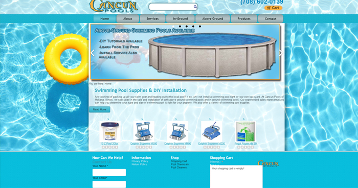 Cancun Pools Website Design