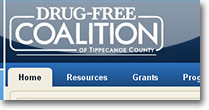 Drug-Free Tippecanoe Coalition Web Site Design