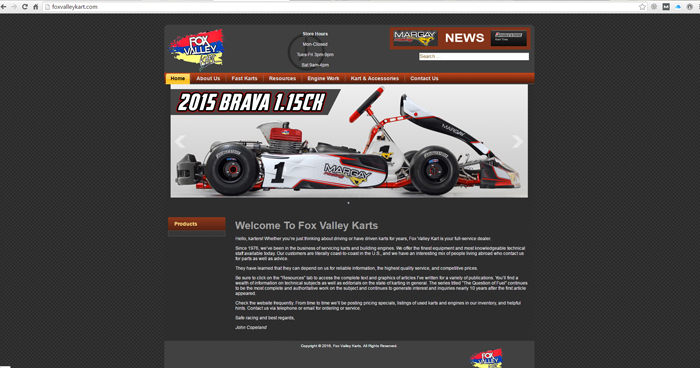 Fox Valley Kart Web Site Design