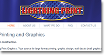 Lightning Print Web Site Design