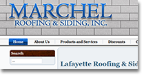 Marchel Roofing Web Site Design