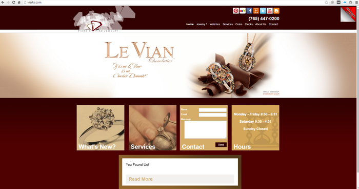 Vierks Fine Jewelry Web Site Design