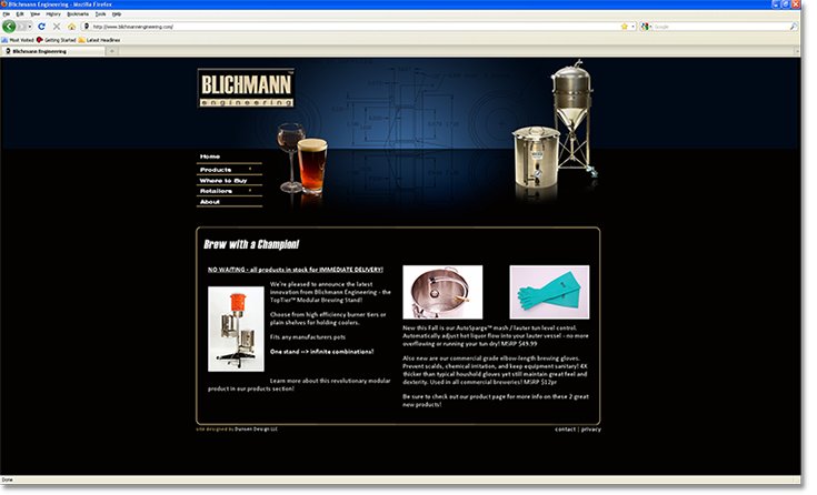 Blichmann Engineering Website