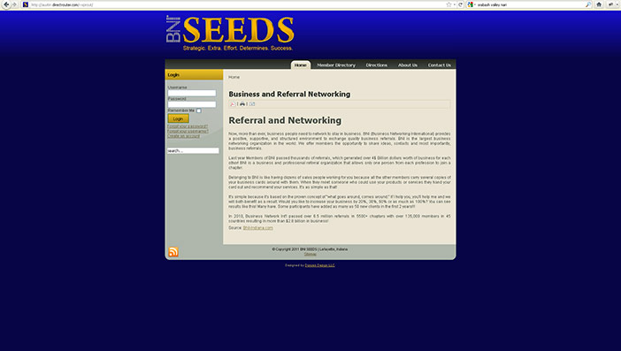 BNI SEEDS Website