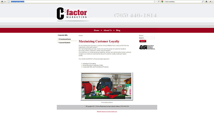 C-Factor Marketing Website