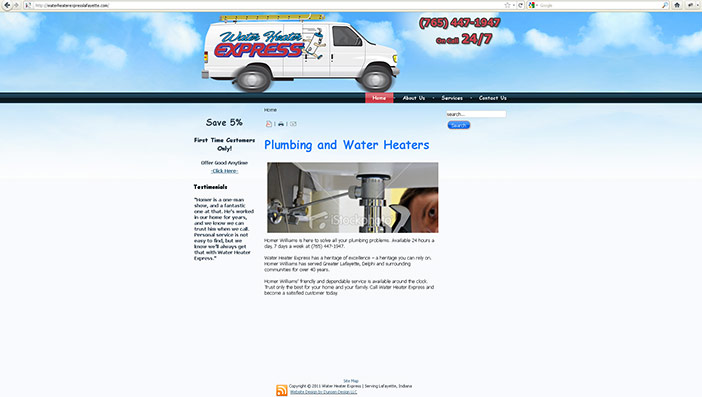 Water Heater Express Website